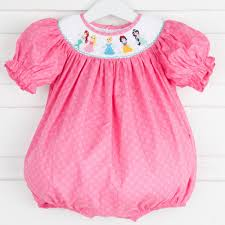 Smocked Auctions Size Chart Smocked Princess Dream Bubble Hot Pink