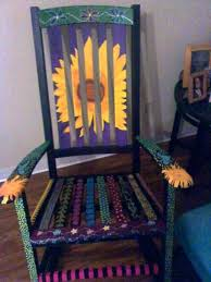 rocking chair and stool hand painted rocking chair neat for fundraiser or maybe a stool hauck rocking chair and stool