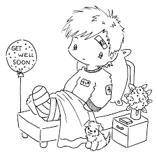 Get Well Card Coloring Page At Getcolorings Com Free Printable
