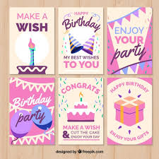 Birthday Greetings Download Free Delectable Birthday Cards With Pink Design Vector Free Download
