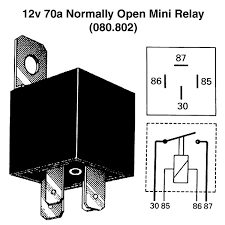 12v 70a normally open mini relay for vintage classic cars view print wiring diagram