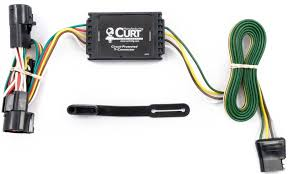 curt t connector vehicle wiring harness with 4 pole flat trailer connector 4 flat
