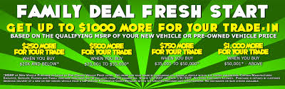 if you re ping for a new or pre owned vehicle this month you ll want to take advane of the family deal fresh start program