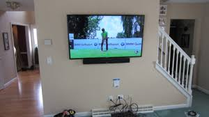 samsung tv mount. enfield-ct-60-samsung-tv -mounted-on-wall-with-sound-bar-and-concealed-wires-3 samsung tv mount