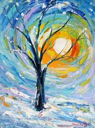 useless link image here for inspiration only van gogh style winter tree painting