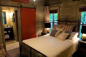 sliding door bedroom furniture. Bedrooms:Small Bedroom With Red Barn Sliding Door And Vintage Bed Idea Wood Wall Furniture D