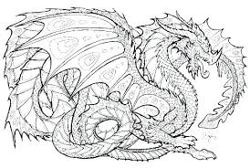 Realistic Dragon Coloring Pages For Adults Great Free Clipart
