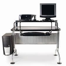 innovex black glass computer desk black computer desks