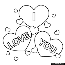 Small Picture I Love You Coloring Page