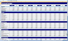 Monthly And Yearly Budget Template Free Printable Personal Budget Worksheet Personal Budget
