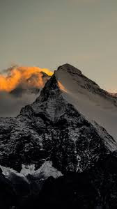 Himalaya Mountains Sunset Fire iPhone 6 ...