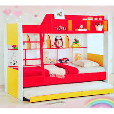 Q 10 Kids and Children Unisex Cartoon Single Double Decker Bunk Bed with Pull  Out Bed (Colourful) | Lazada Malaysia