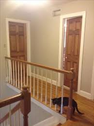 wood interior doors with white trim. Wood Doors...stained Special Walnut With White Trim. Revere Pewter By Benjamin Interior Doors Trim