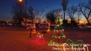 Washington Park Michigan City Christmas Lights Washington Park Festival Of Lights Amazing Drone Footage