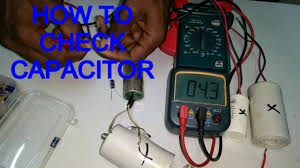 how to check capacitor in meter in tamil english