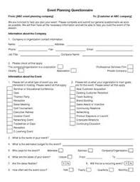 event planning questionnaire wedding planner questionnaire template google search wedding