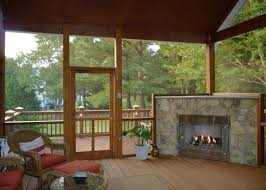 sunroom patio screened in porch deck would love to do this with fireplace