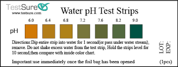 Tetra Test Strips Chart Rigorous Water Test Strips Color Chart Water Test Strips