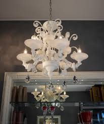 white ca rezzonico chandelier with 6 lights spare parts for murano glass chandeliers