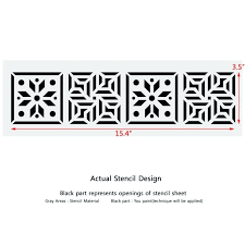 wall border design wall border stencils pattern reusable template for wall decor house wall border design