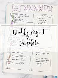 Bullet%2BJournal%2BWeekly%2BSet%2BUp%2B%2526%2BTemplate simple weekly layout & template kate louise on printable calendar by week february 2017