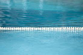 swimming pool lane lines background. Float Lane Of Swimming Pool For Racetrack Texture And Background With Copy Space Lines