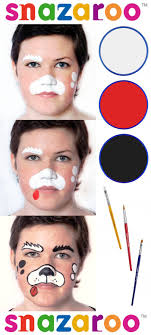 how to face paint a puppy with snazaroo face paints from facepaintingtips com face painting designs face face paintings and dog