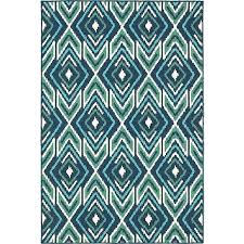 blue and green outdoor rug meridian polypropylene transitional striped