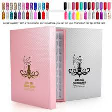 Nail Type Chart Details About 216 Colors Nail Gel Polish Display Card Book Color Board Chart Nail Art Manicure