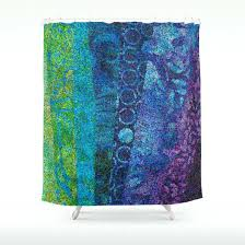 artistic shower curtains. Purple And Green Shower Curtains Artistic Curtain Day Night Teal Blue Stripes Abstract Beautiful Cool Sapphire Decor Bath Home T