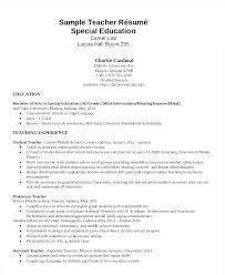 Sample Resume For Special Education Teacher Teachers Resume Sample