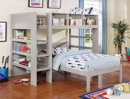 ltlt previous modular bedroom furniture. Furniture Of America CM-BK965GY-L-T Annemarie Collection Gray Finish Wood Twin Loft Bed Set With Bookcase Shelves Ltlt Previous Modular Bedroom M