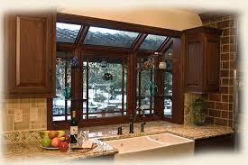 Kitchen wood greenhouse window