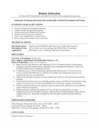 Programmer Entry Level Sample Job Description Templates Resume For