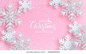 pink snowflake background. Beautiful Snowflake Christmas Poster With Shiny Silver Snowflakes On A Pink Background Vector  Illustration To Pink Snowflake Background I