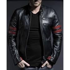 waxed sheepskin fashion biker leather jacket