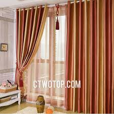adorable brown and burnt orange curtains ideas with striped blackout toile burnt orange and orange modern