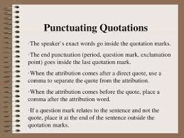 Does The Period Go Inside The Quotes Fascinating Quotations [PPT Powerpoint]