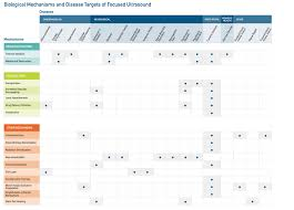 Ultrasound Intensity Chart Mechanisms Of Action Focused Ultrasound Foundation