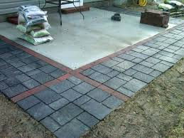 concrete patio tiles medium size of installing modern pertaining to inspirations 14