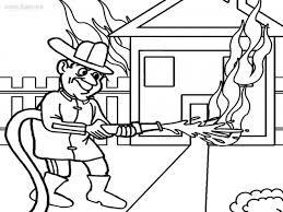 Fireman Coloring Pages - coloringsuite.com