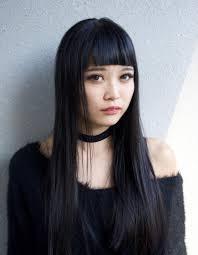 黒髪ぱっつんストレートhy 78 ヘアカタログ髪型ヘアスタイル