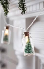 Mini Light Garland Mini Trees Inside Tiny Bottles On Light Strand Adorable