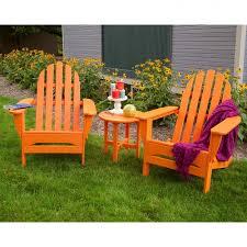 recycled plastic adirondack chairs. Polywood Recycled Plastic Adirondack Chairs Maintenance Free Orange Resin Chair C