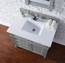 bathroom features gray shaker vanity: brittany quot urban gray bathroom vanity james martin