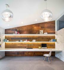 century office. Portland Mid Century Office In Home Midcentury With Built Desk Mounted Desks Raked Ceiling