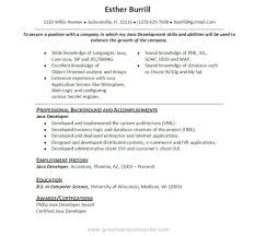 Core Java Resume Ideal Core Java Developer Resume Sample Resumes