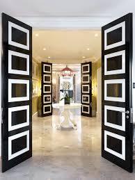 white black doors regency decor entrance marble tiles floor yellow white better decorating