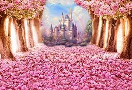 Cherry Blossom Backdrop Aofoto 7x5ft Pink Cherry Blossom Backdrop Dreamy Princess Castle Sweet Sakura Flowers Tree Boulevard Photography Background Baby Girls 1st 3rd