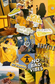 Yellow Aesthetic Photo Collage ...